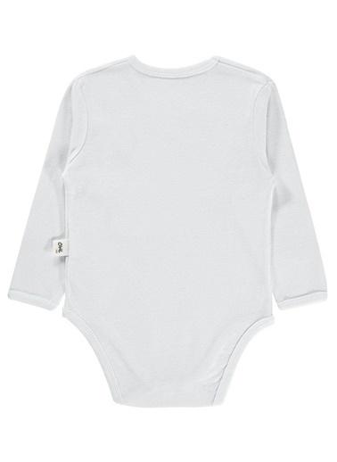 Civil Baby Çıtçıtlı Badi Beyaz